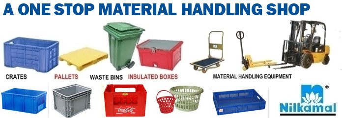 Authorised Distributor of Nilkamal Crates, Bins, Storage Racks, MHE